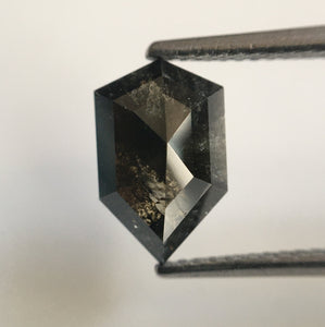 2.14 Ct Fancy Shape Dark Gray Black Color Natural Diamond, 10.35 mm X 6.57 mm X 3.82 mm Shield shape Natural Diamond SJ54/20 - Amba Jewel