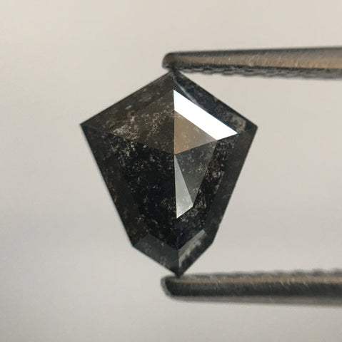 0.93 Ct Fancy Shape Dark Gray Color Natural Diamond, 8.09 mm X 6.92 mm X 2.48 mm Shield shape Natural Diamond SJ54/23 - Amba Jewel