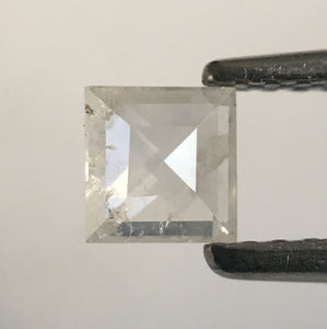 0.31 Ct light Grey Square Shape Natural Loose Diamond, 3.92 mm X 1.62 mm Fancy Loose Diamond SJ52/25 - Amba Jewel