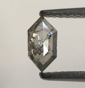 0.43 Ct Hexagon Shape Fancy Grey Natural Diamond, 6.61 mm X 3.52 mm X 2.07 mm Fancy Shape  diamond  SJ53/12 - Amba Jewel