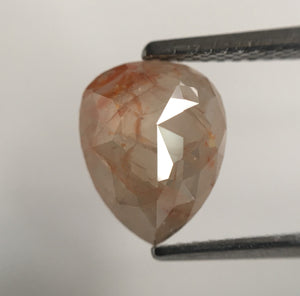 1.78 Ct Pear Shape Fancy Light Brown Rose Cut Natural Loose Diamond, 9.21 mm X 7.30 mm X 3.49 mm Rose Cut Pear Natural Loose Diamond SJ55/24 - Amba Jewel