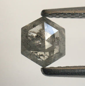 0.45 Ct Hexagon Shape Gray Color Natural Loose Diamond, 5.53 mm x 4.77 mm X 2.08 mm Geometry Shape Natural Loose Diamond SJ55/45 - Amba Jewel