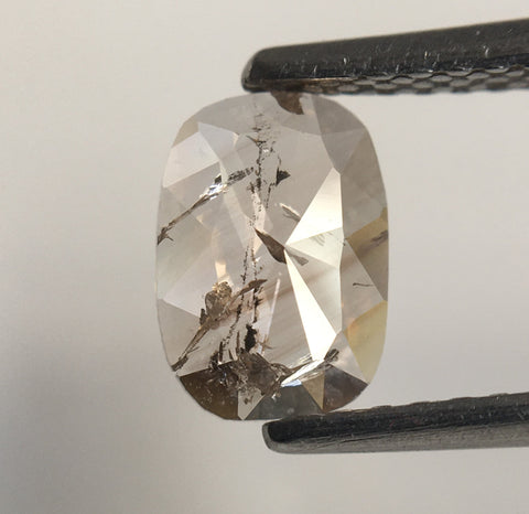 0.63 Ct Oval Shape Light brown Natural Diamond 7.10 mm X 5.02 mm X 1.74 mm Oval Shape Rose Cut Natural Diamond SJ60/19 - Amba Jewel