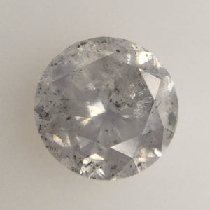 1.21 Ct Natural Diamond Round Brilliant Cut Light Grey Salt And Pepper Color i3 Clarity 6.22 MM x 4.36 MM Size, Round Diamond SJ03/58 - Amba Jewel