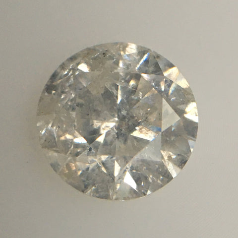 Natural Diamond Round Fancy Grey Color I3 Clarity 5.66 MM X 3.65 MM 0.78 Carat, Round Brilliant Cut Diamond SJ60/60 - Amba Jewel