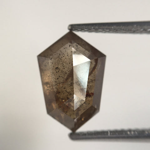 3.74 Ct Natural Diamond Shield shape 11.79 MM X 8.06 MM X 4.89 MM Fancy Brown Geometric shape Diamond, Fancy Brown Diamond SJ64/42 - Amba Jewel