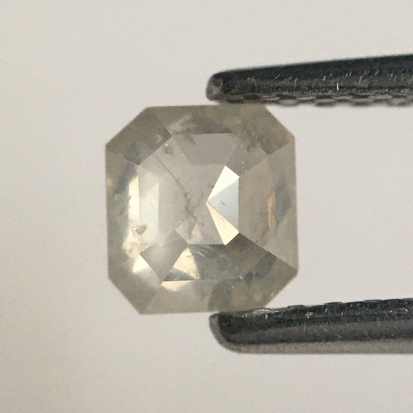 0.45 Ct Natural Diamond Fancy Gray Color Emerald Shape, 4.51 MM x 4.16 MM x 2.38 MM Gray White i3 clarity Natural Diamond SJ66/34 - Amba Jewel