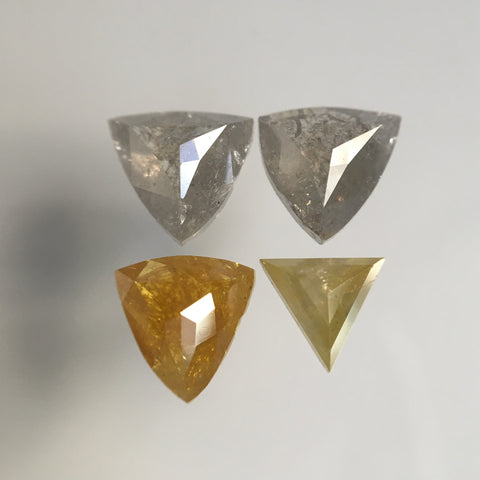 2.03 Ct Natural Loose Diamond Fancy Color Geometric Shape 4 Pcs, 4.53 mm to 5.92 mm Mix Shape Natural Loose Diamond use for Jewelry SJ67/16 - Amba Jewel