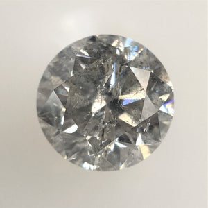 1.10 Ct Round Brilliant Cut Natural Diamond, 6.32 MM x 4.16 MM Salt and Pepper Natural Diamond SJ69/AJ27 - Amba Jewel