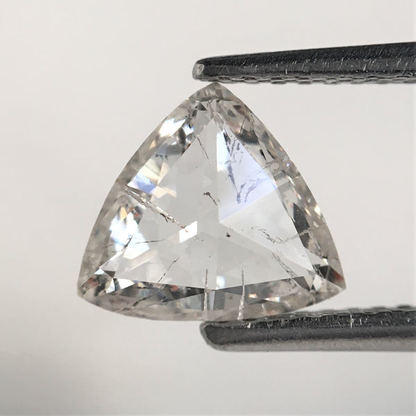 1.25 Ct White Triangle Shape Natural Loose Diamond, 7.27 mm x 8.06 mm x 2.80 mm Round Rose Cut White Color Natural Diamond SJ39/51 - Amba Jewel