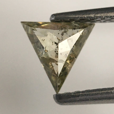 0.42 Ct 5.29 mm X 5.90 mm X 2.14 mm Triangle Shape Natural Diamond, Fancy Light yellow color Triangle Shape Polished Diamond  SJ07/44 - Amba Jewel