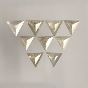 1.27 Ct Straight Triangle shape Natural Diamond 9 Pcs, 3.92 mm to 4.50 mm Triangle Cut Natural Diamond SJ68/78 - Amba Jewel
