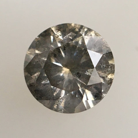 0.36 Ct Fancy Gray Round Brilliant Cut  Diamond, 4.70 mm X 2.80 mm Genuine Round Shape Natural Diamond SJ16/17 - Amba Jewel