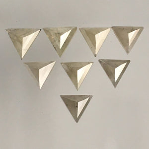 1.21 Ct Straight Triangle shape Natural Diamond 8 Pcs, 4.00 mm to 4.50 mm Triangle Cut Natural Diamond, Opaque Diamond SJ68/79 - Amba Jewel