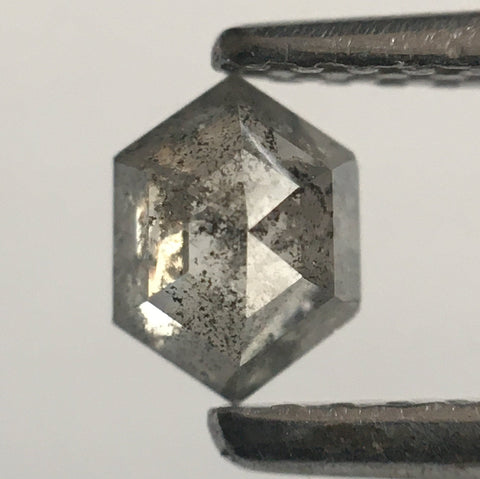 0.28 Ct Fancy Gray Natural Diamond Hexagon Shape 4.74 mm X 3.55 mm X 2.03 mm Hexagon Shape  Diamond  SJ53/64 - Amba Jewel