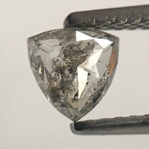0.49 Ct Triangle Shape Gray Natural Diamond 5.22 mm x 5.23 mm X 2.10 mm, Polished Diamond for rings SJ53/43 - Amba Jewel