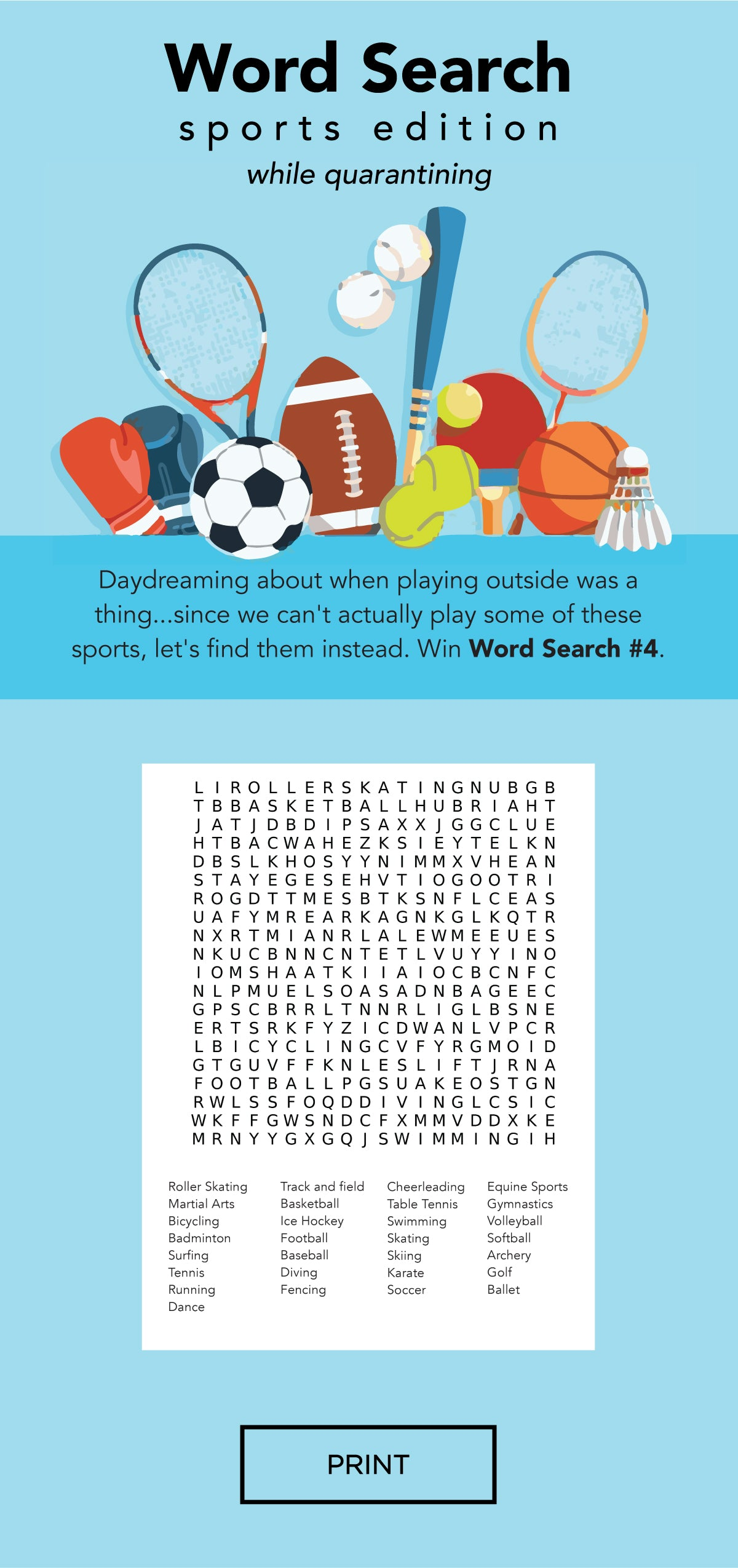Word Search - Sports Edition by 7AM