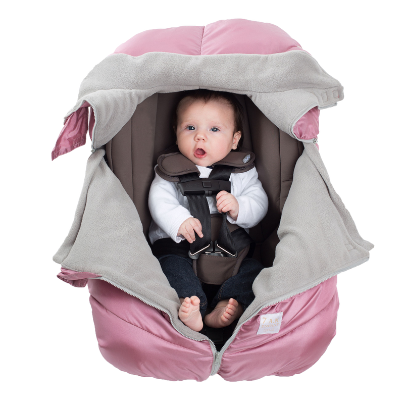 Car Seat Cocoon - Metallic Lilac