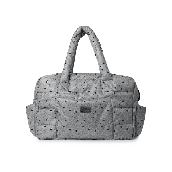 SoHo Diaper Satchel - Heather Grey Stars