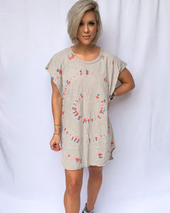SUNSET DREAMS TIE DYE TUNIC DRESS