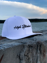 Load image into Gallery viewer, HIGH STANDARD SNAPBACK - WHITE SCRIPT
