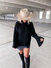 Load image into Gallery viewer, RING MY BELL STATEMENT SLEEVE SWEATER