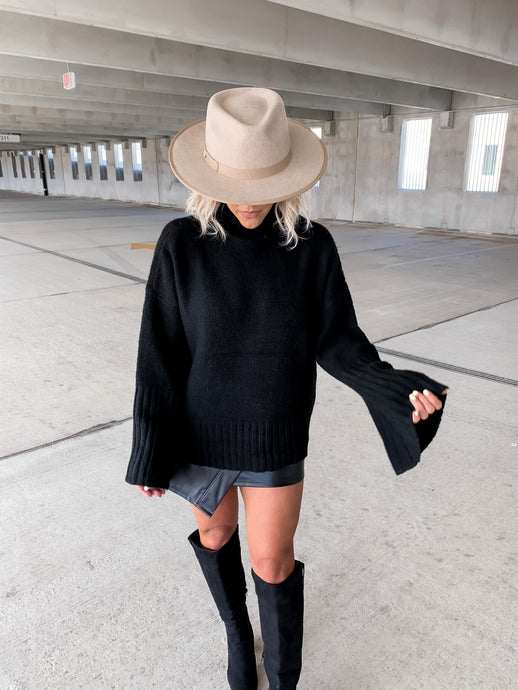 RING MY BELL STATEMENT SLEEVE SWEATER