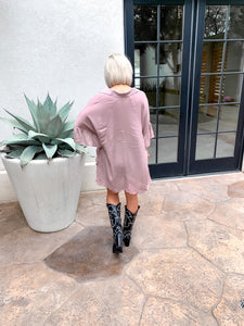 NEED-A-LATTE OVERSIZED RUFFLE TUNIC