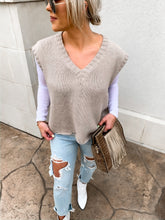 Load image into Gallery viewer, JONES SLEEVELESS KNIT SWEATER