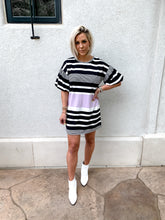 Load image into Gallery viewer, COOL GIRL PUFF SLEEVE T-SHIRT DRESS
