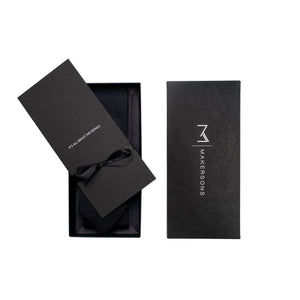 Black knit tie with gift box