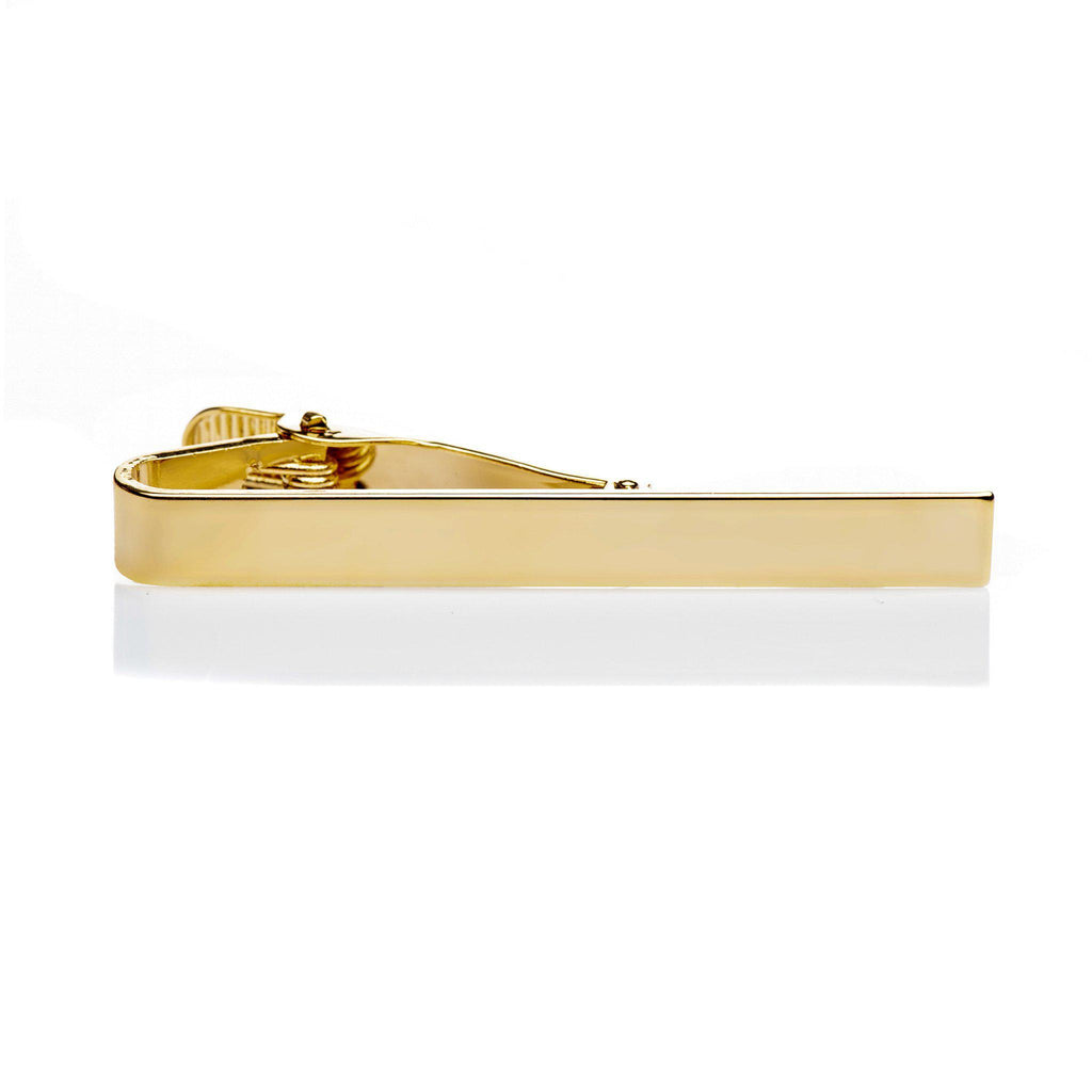 Tie clip gold simple