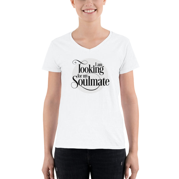 Looking for My Soulmate Women's Casual V-Neck Shirt