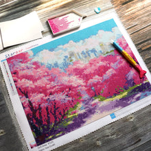 Load image into Gallery viewer, staroar diamond painting easter painting spring flower cherry blossom sakura