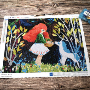 Staroar Diamond Painting Forest Tale Unicorn