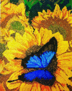 Crystal Rhinestone - Sunflowers&Butterfly [New Canvas]