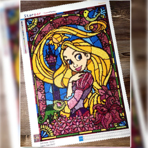 Staroar Diamond Painting Stain Glass DIsney Princess Rapunzel
