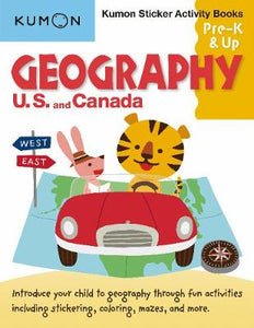Geography Sticker Activity Book: U.S. and Canada (Kumon Sticker and Activity) (Kumon Sticker Activity Books, Pre-K & Up)