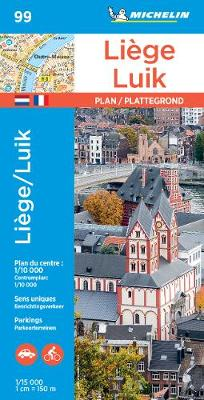 Michelin Liege Map No. 99: Road & Tourist Map (French Edition)