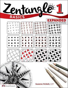 Zentangle Basics, Expanded Workbook Edition: A Creative Art Form Where All You Need is Paper, Pencil, Pen (Design Originals) 25 Original Tangles, Beginner-Friendly Practice Exercises, Techniques