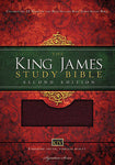 KJV Study Bible, Large Print, Bonded Leather, Burgundy, Red Letter Edition: Second Edition (Nelson KJV Signature)