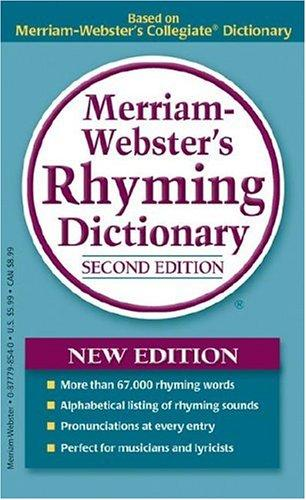 Merriam-Webster's Rhyming Dictionary, New Second Edition, mass-market paperback
