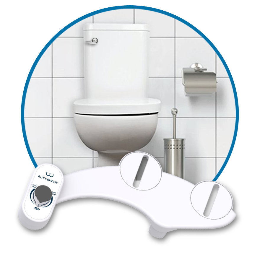 In My Bathroom (IMB) | Butt Buddy - Bidet Toilet Attachment - Fresh Water Sprayer - Features - Benefits - Poop Like Royalty - Stop Wiping - Start Washing - BBB