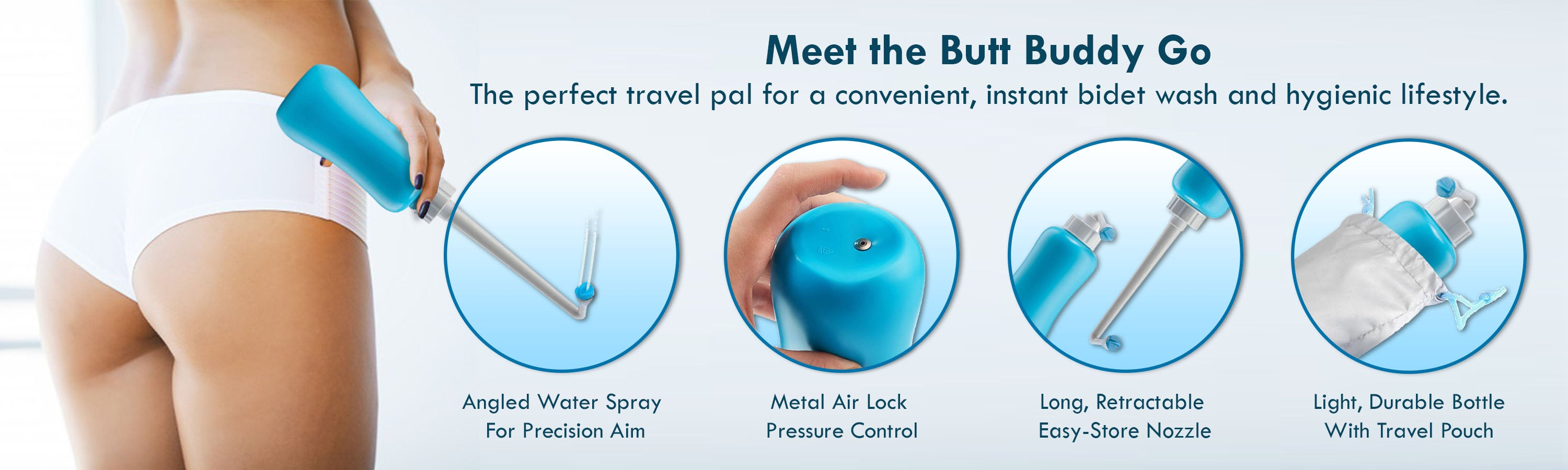 In My Bathroom (IMB) | Butt Buddy - Bidet Toilet Attachment - Fresh Water Sprayer - Stop Dirty Wiping - Start Clean Washing - BBB