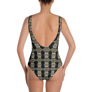 Focal Point One-Piece Swimsuit by Abstraction