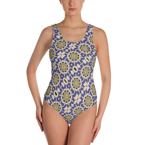 Egg Hunt One-Piece Swimsuit by  Abstraction