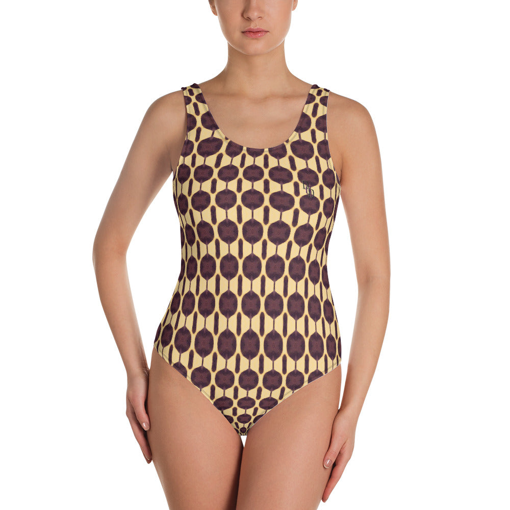 Subtlety One-Piece Swimsuit by DGD Abstraction