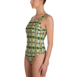 Coming Green One-Piece Swimsuit by Abstraction