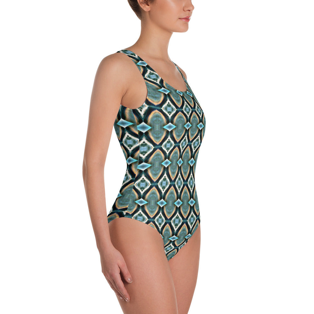 Ablaze One-Piece Swimsuit by Abstraction