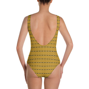 Gold Leaf One-Piece Swimsuit by Abstraction